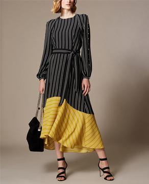 Karen Millen Stripe Midi Dress