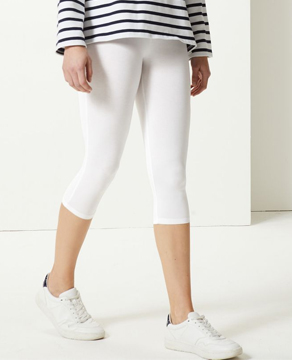 Marks & Spencer White Cropped Leggings