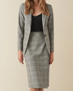 Reiss Alenna Wrap Front Skirt
