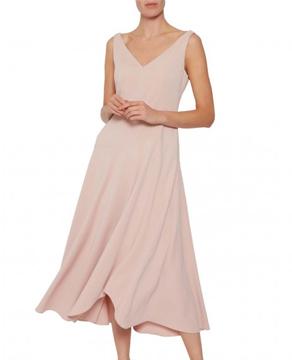 Gina Bacconi Pilar Moss Crepe Midi Dress