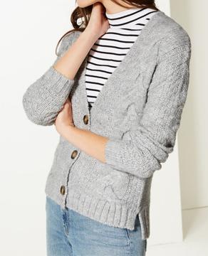 Marks & Spencer Textured Cardigan