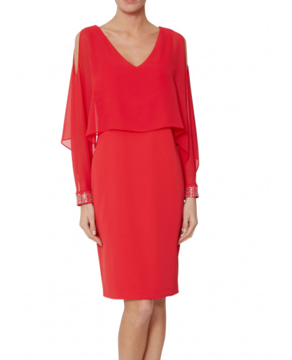 Gina Bacconi Karen Chiffon and Crepe Dress