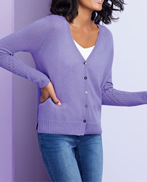 Pure Collection Pointelle Cardigan
