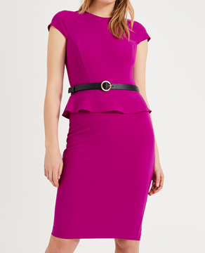 Phase Eight Mila Belted Peplum Dress