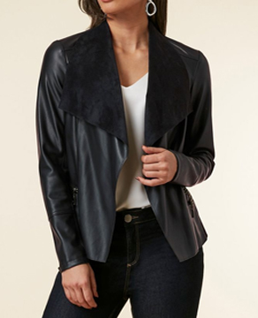 Wallis Leather Waterfall Jacket