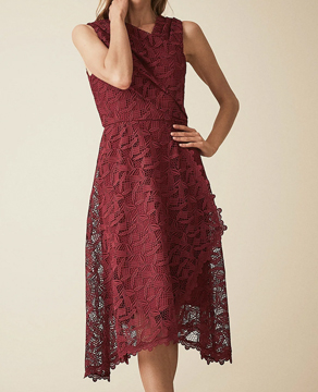 Reiss Wrap Front Lace Dress