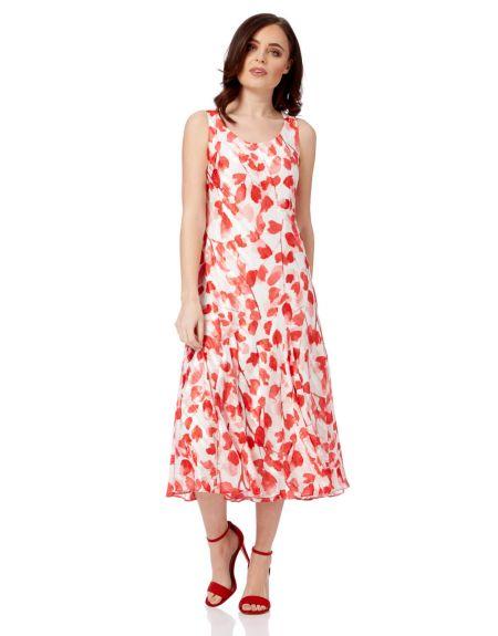 Poppy Print Bias Cut Dress