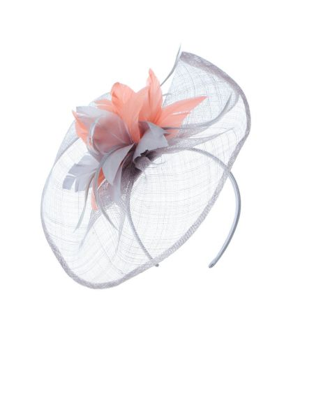 Sinamay Veil Feather Fascinator