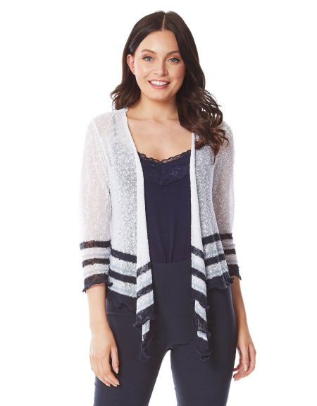 Stripe Asymmetric Shrug