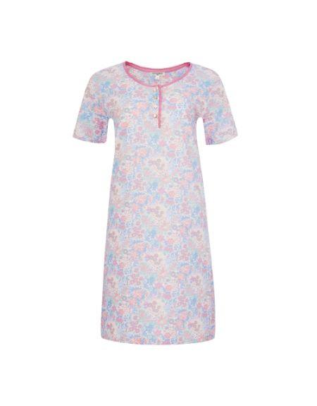 Henley Floral Sleep Tee Shirt