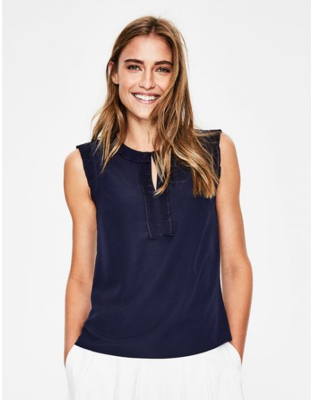 Peggy Top Navy Women Boden, Navy