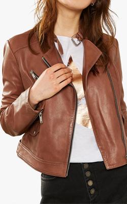 Mint Velvet Leather Jacket