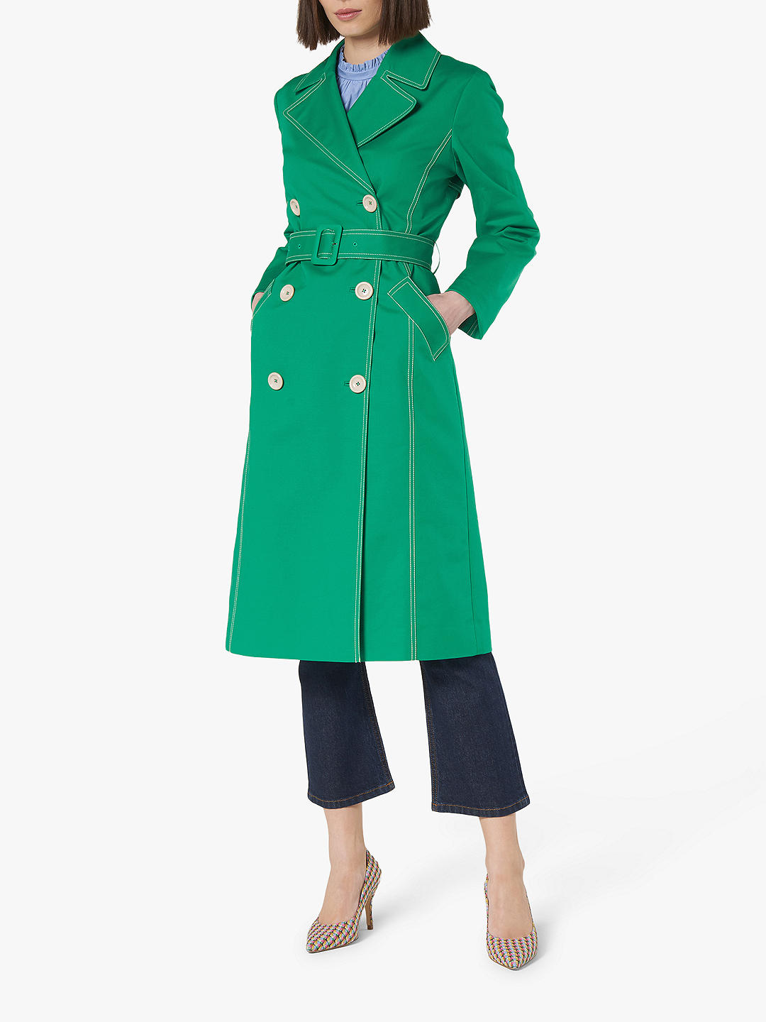 Green Trench Coat for Over 60s