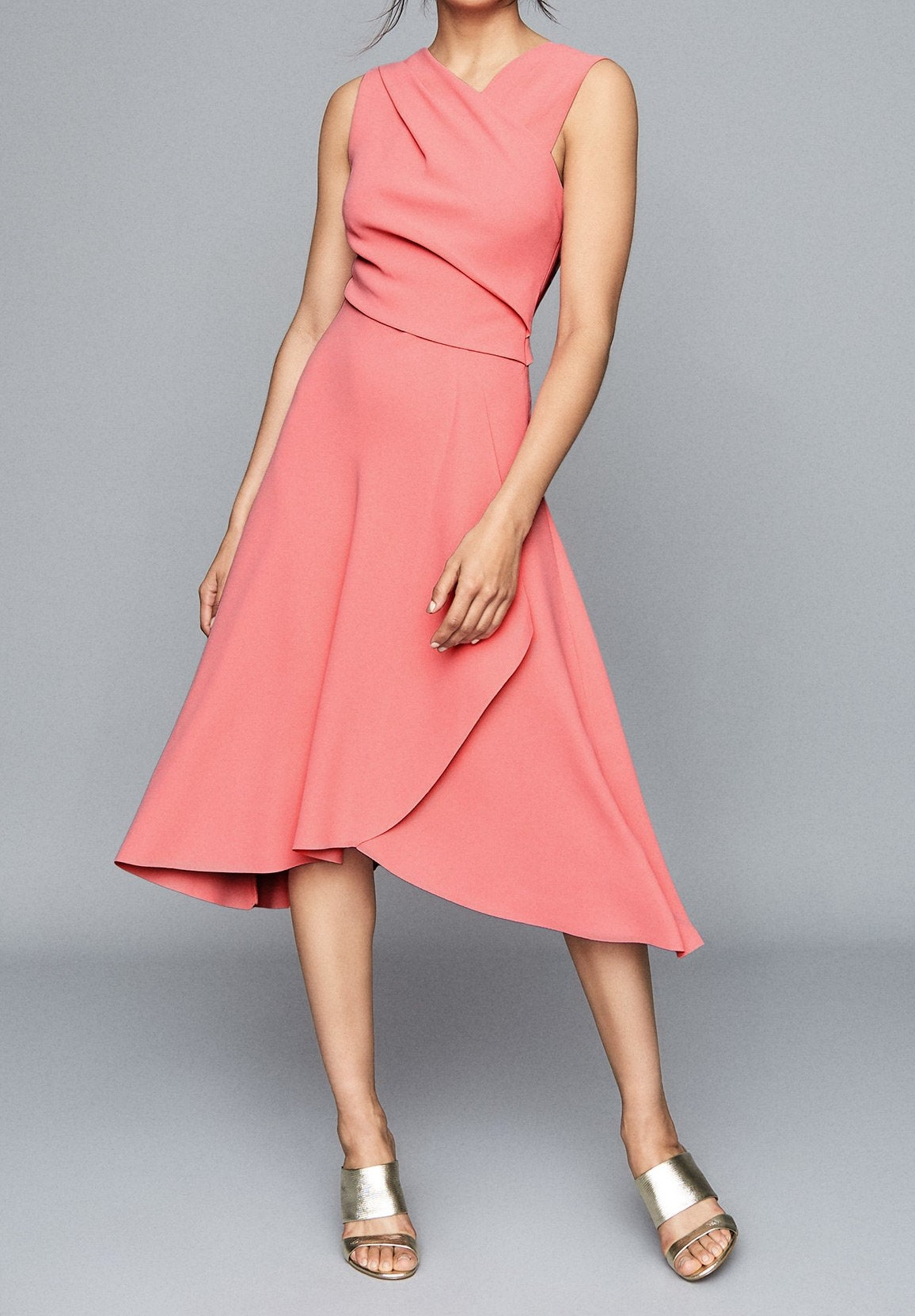 Pink Midi Dress for Over 60s