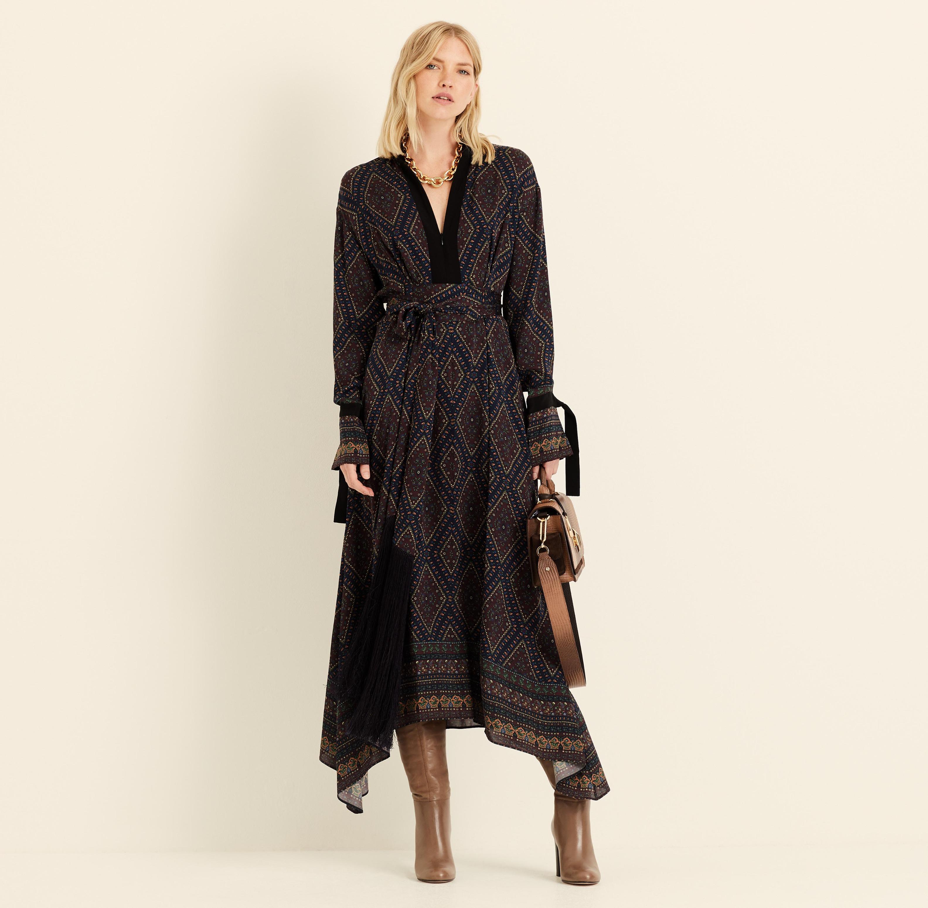 Amanda Wakeley Geo Paisley Midi Dress