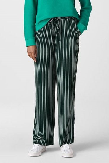 Whistles Wide Leg Stripe Trousers John Lewis Sustainable