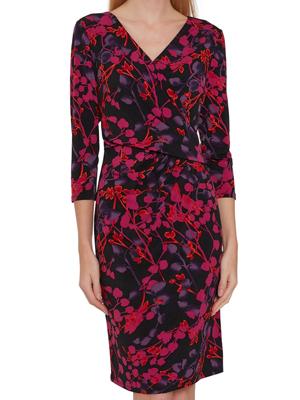 Gina Bacconi Kirpa Wrap Dress Punk Dark Floral