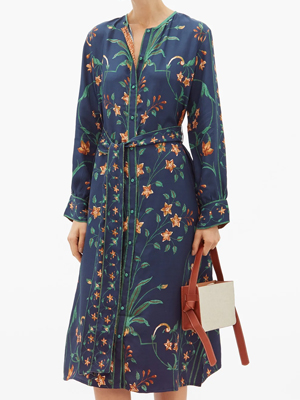 Matches Fashion D'ascoli Dark Floral Dress