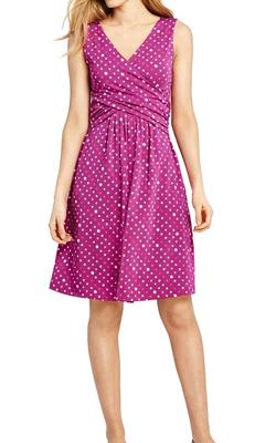 Lands End MotB Petite Dress Pink Spot