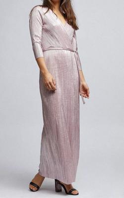 Petite Pink Plisse Maxi Dress MotB Dorothy Perkins