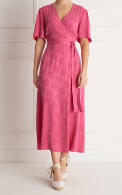 Fenn Wright Manson Petite Pink Wrap Dress MotB