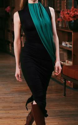 Marina Moscone Dress Fashion Week