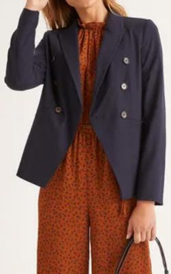 Boden Addlestone Tweed Blazer Nautical