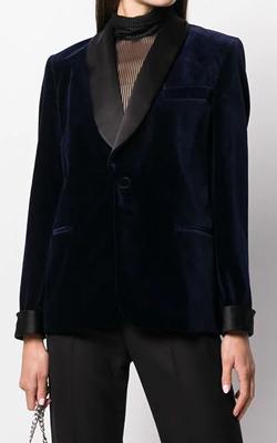 Ralph Lauren Velvet Contrast Blazer