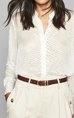 Reiss Silk Burnout Shirt Interview