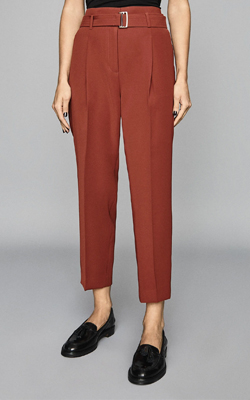 Reiss Slim Fit Trousers Rust Interview