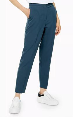 Topshop Blue Straight Leg Suit Trousers Interview