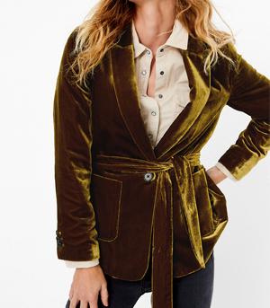 Marks & Spencer Velvet Belted Blazer Partywear over 50s