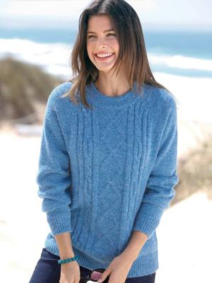 Damart Cable Knit Sweater
