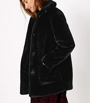 Marks & Spencer Faux Fur Coat Partywear over 50s