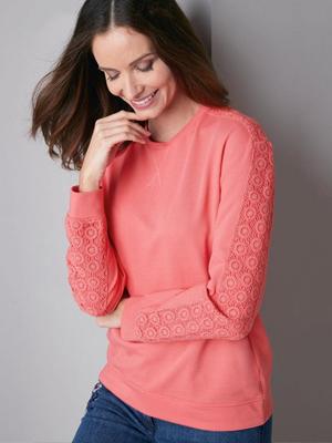 Damart Knitwear Lace Jumper
