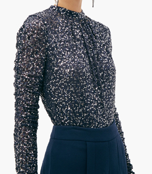 Matches Fashion Sequin Top Partywear for over 50s