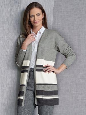 Damart Knitwear Stripe Cardigan
