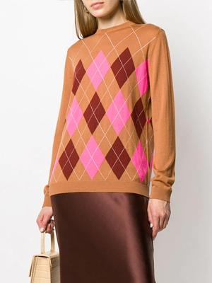 Farfetch Argyle Knit