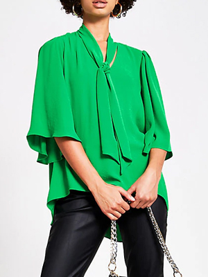 River Island Pussy Bow Blouse