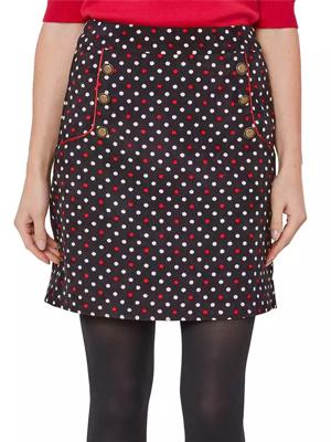 Debenhams Polka Dot Cord Skirt