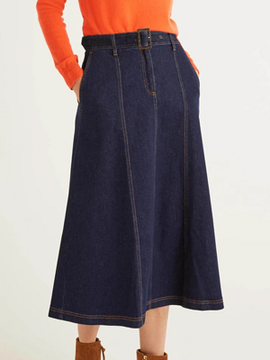 Boden Denim Midi Skirt 2020 Trends