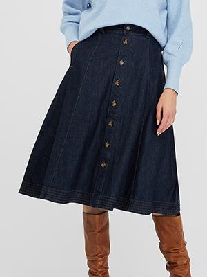 Monsoon Organic Denim Skirt
