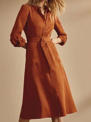 Phase Eight Tan Dress