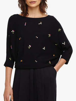 Phase Eight Cristine Jewel Knitted Jumper