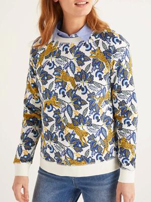 Boden Ivory Cheetah Sweatshirt