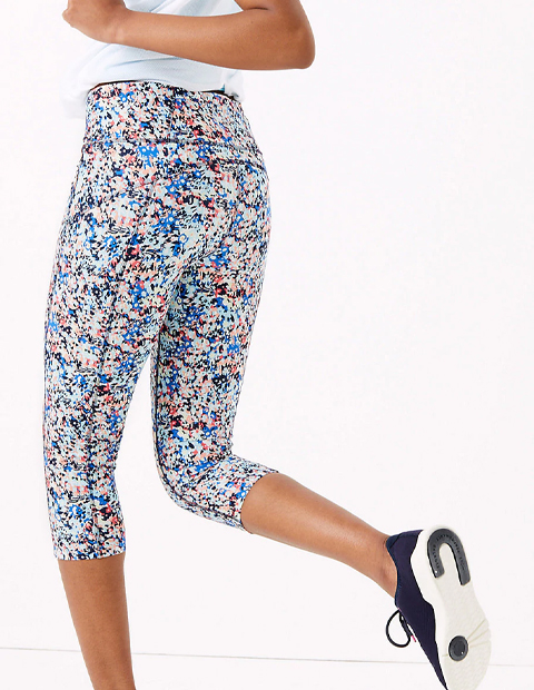 Marks & Spencer, Printed Cropped Workout Leggings