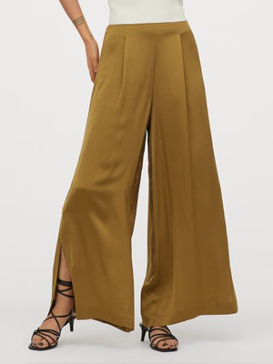 H&M Wide Satin Trousers